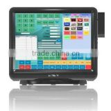 "15"" TFT LED Touch Screen All-in-one Touch Pos Machine with MSR for Pos Cash Register with Resistive Touch Panel"