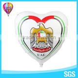 2016 heart shape advertisment mylar balloon with logo customer for advertisement foil balloon promotion gift