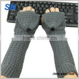 high quality hot fashion high quality ladies stock warm long sleeve knitted gloves