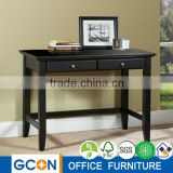Home style black office slim computer working desk