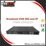 IRD1301 Professional iptv&video ip encoder decoder built-in ASI/RF Biss&CI IRD/Decoder