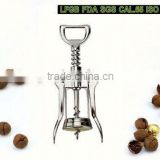 Deluxe wine corkscrew -wall mount-brass plated corkscrew wine opener stainless steel wine opener