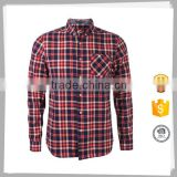 High quality Formal heavy mens cotton winter check shirts for men
