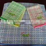 stock cotton yarn dyed jacquard embroidery bath towel