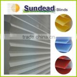cordless polyester fabric pleated blinds plissee no cord, safety for kids