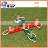 Educational 5 quoits colorful wooden ring toss for children and adult