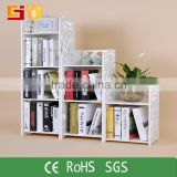 Hot sale high quality modern DIY exhibition book shelf kids storage plastic bookshelf