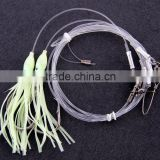 Groper Heavy Duty rigs two or three luminous squids 13/0 recurve circle hooks effective on other deep water fish