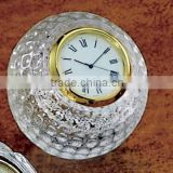 Shining Crystal Golf Ball Clock For Wedding Favor And Office Table Set