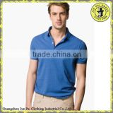 Blue Western Style Cotton Custom Bowling Polo shirts For Men
