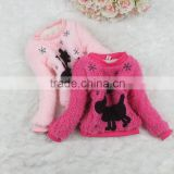 Hot Sale Korean Children Clothing Woolen Thickened Girls Shirts For Kids Clothing GT40902-23