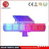 Three Red and Three Blue Solar Double Sides Flash Warning Light
