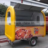 Comercial Summer Hot Sell Stainless SteelMobile Street Food Vending Cart/Kiosk for sale with kitchen