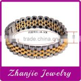 New Design Magnetic Silver Gold Health Care Jewelry No Problem Health Stainless Steel Bio Magnetic Bracelet Design For Men