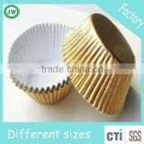 1000PCS/shrink Plain Gold Foil paper Cupcake liners Baking Cups Cupcake Muffin Cases Cake Molds for party