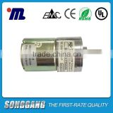 Electric Outboard Motor 24Volt 100RPM DC Gear Motor for Water Meter with Permanent Magnet Made in China