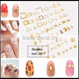 2016 New Design 3D Hollow Nail Art Jewelry Fashion Nail sticker Lovely metal nail art stud