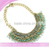 wedding dress jewelry big chain crystal beads choker necklacet