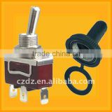 15A on-off-on waterproof toggle switch,on and off switch 250v,approval metal hand toggle switch
