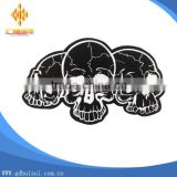 High quality cheap eco-friendly cheapest custom skull head patches