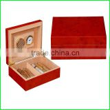 Tailand Imported Rosewood Cigar Box for Smokers with Hygrometer