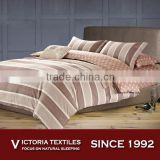 Pacific Brown Striped 8 piece Full Size Cotton Comforter Duvet Cover Bedding Bed Set Bed Linen