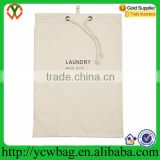 Natrual cotton hanging drawstring water soluble laundry bag
