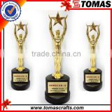 Plastic trophy base high quality big gold plated metal awards sport study keepsake world cup trophies china trophy cup