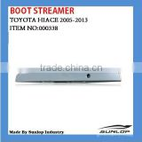 car Hiace body parts #000338 Toyota hiace chrome Boot Streamer for hiace van,commuter,KDH200