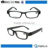 Comfortable best cheap high fashion designed hand painted plastic black color frame wholesale reading glasses for men