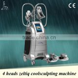 Freezing fat cell slimming machine, 4 heads,emergency stop&heart rate tester, 2 years warranty