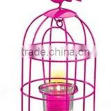 Bright coloful BirdCage Candle Holder