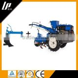 mini farm hand tractor 12hp with rotary tiller two wheels diesel engine 8-12hp power hand tractor