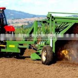 hot sale new design tractor towed hydraulic compost turner windrow turner windrow mixer with CE cetification