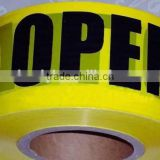 Rubber Adhesive and Warning Use pvc wrapping tape for pipe