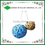 Hand weaving wicker woven colored decorative wicker ball