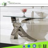X01 modern hallway X shape mirrored console table