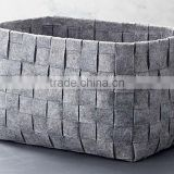 factory price multi function eco friendly handmade felt non woven storage basket china suppliers