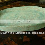 Imitation Antique Wooden Green Tray