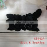 BESTO wholesale black leather flower for lady shoes decoration