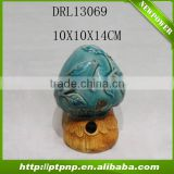Factory Selling Antique Small Glazed Ceramic mushroom