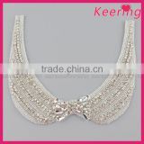 Fashion neckline custom iron on rhinestone applique designs WRA-835