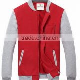 high quality 100% polyester plain blank front pockets hoodie jacket wholesale custom sweater jackets for men