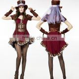 Circus clown Steam punk girl Theme party dress