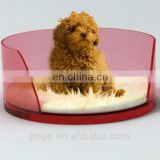 China hot sale red clear lucite small funny royal dog bed