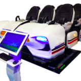 Amusement Park Ride 9D Vr Simulator With 6 Seats , 9D Vr Movies 6 kw Power