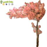 Wedding Pink 200 Cm Height Wood Material Artificial Cherry Blossom Tree