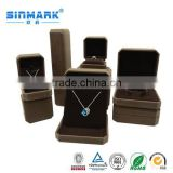 SINMARK customized luxury leather foam inserts jewelry box gift box for necklace/ring/pendant/bracelet