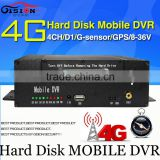 4G Mobile DVR, H.264 4CH car dvr ,Real time ,GPS Track ,I/O,G-sensor,Vehicle DVR,support iPhone ,Android Phone,