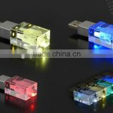 3D Laser logo Crystal USB disk on key with Different Led Light Inside 2gb                                                                         Quality Choice